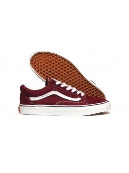 Кеды Vans old skool wine red white